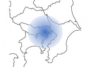 東京 同心円状の図