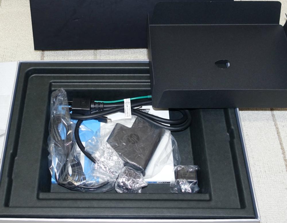 HP spectre x360化粧箱の底の蓋開ける