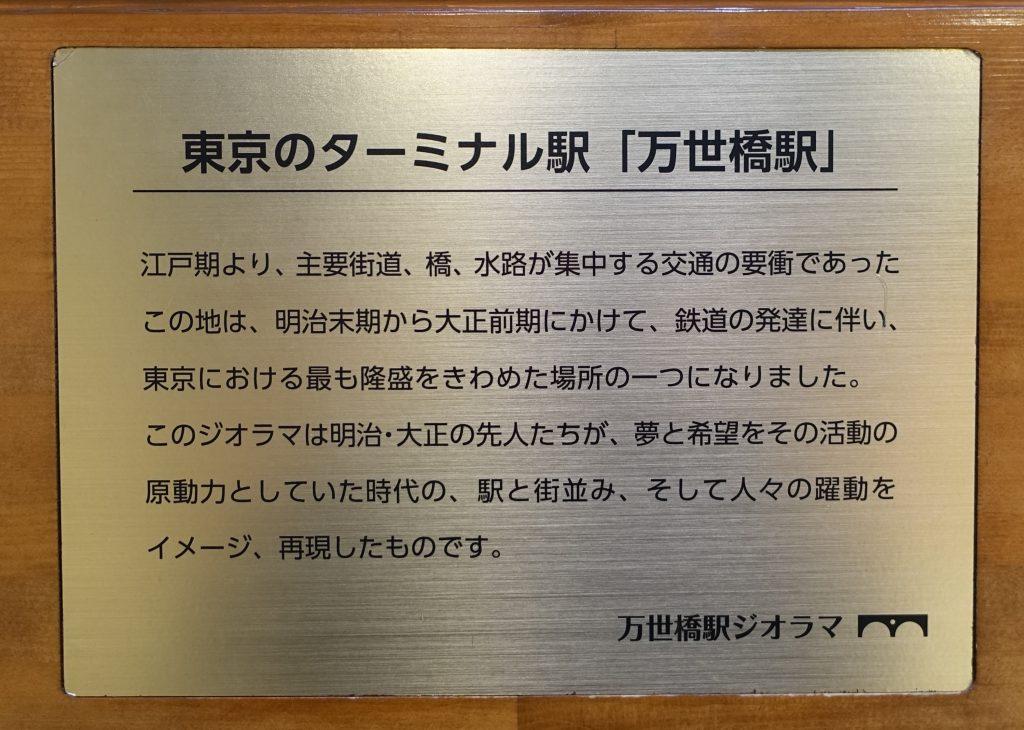 万世橋駅 ジオラマ説明書き