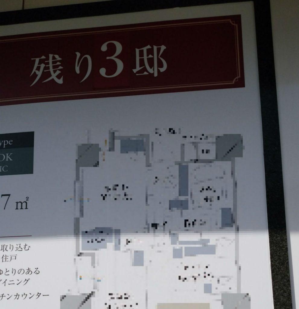 東京分譲マンション 残り3邸