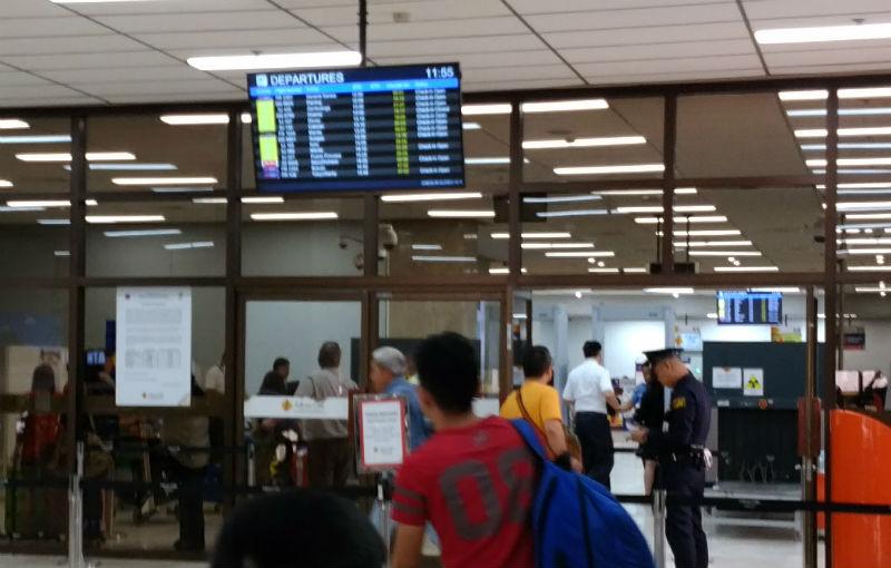 フィリピンセブマクタン空港最初のセキュリティーゲート