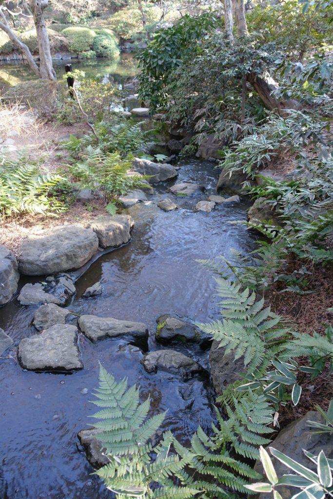東京都庭園美術館 日本庭園の水の流れ