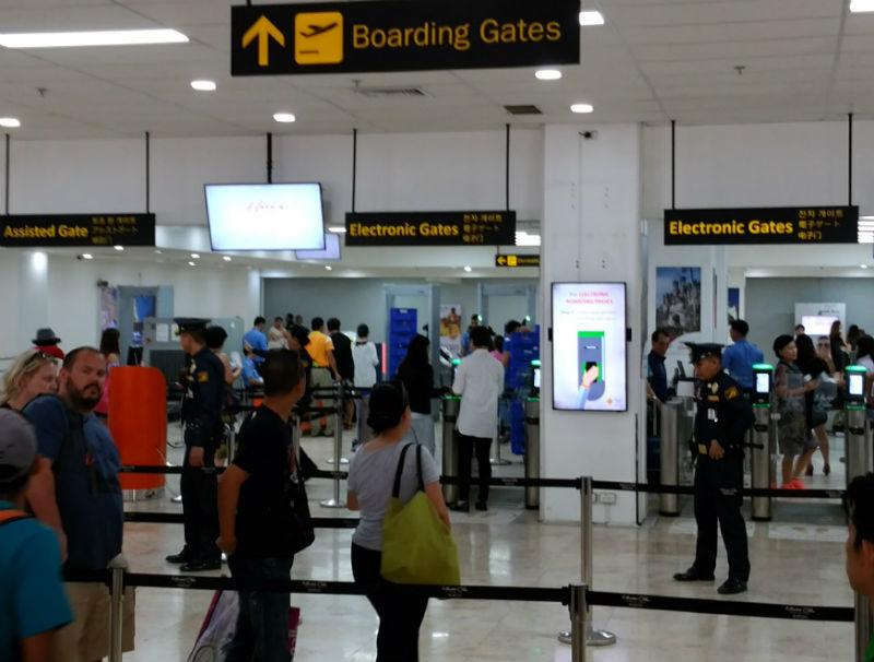 フィリピンセブマクタン空港2回目のセキュリティーゲート