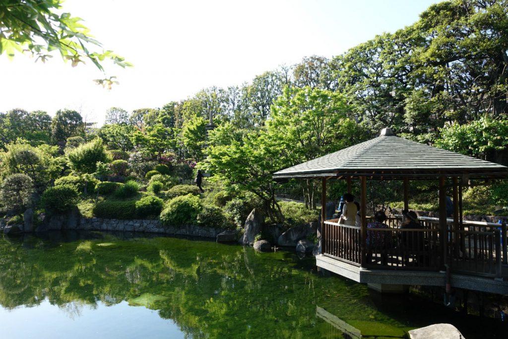 東京 目白庭園 六角浮き見堂