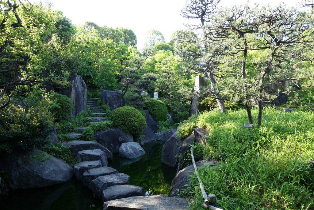東京 目白庭園内の通路 飛び石