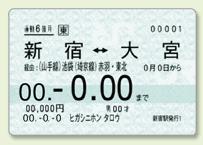 磁気カードの定期券