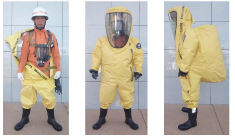総務省消防庁 資料より引用 陽圧式密閉化学防護服