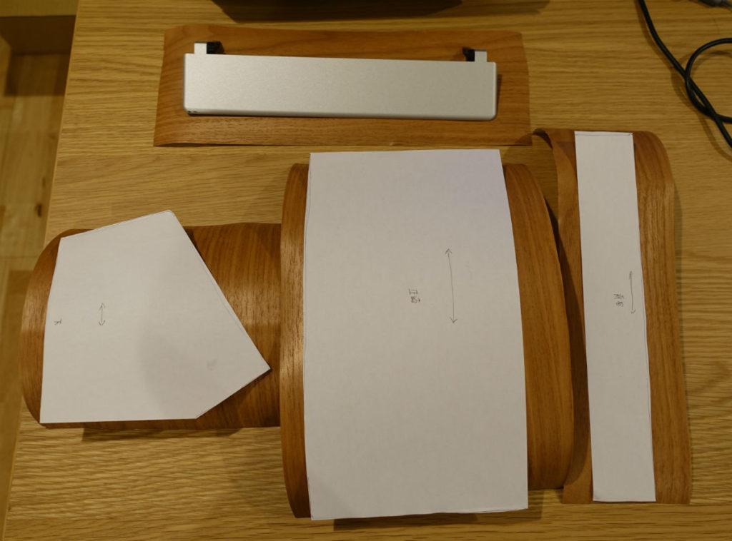 型紙と3Mダイノックフィルム切り出し