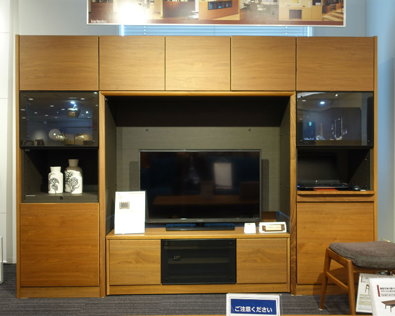 カリモクお台場ショールーム TVボード システム収納