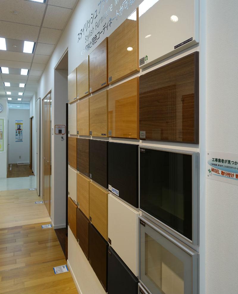 東京コラボレーションショールーム DAIKENエリア 建材パネルサンプル