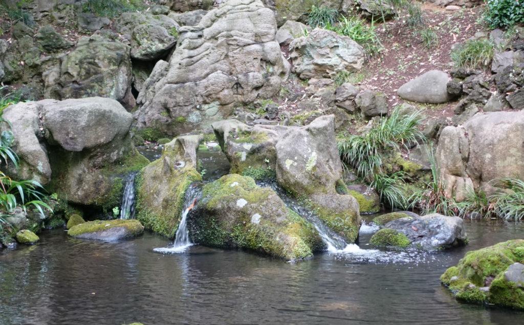六義園 滝