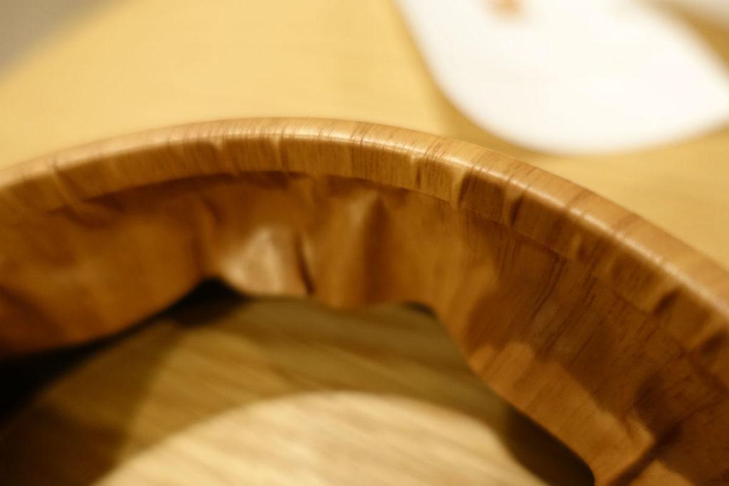 MUJIアナログクロック円柱形外枠にダイノックフィルム貼付 再チャレンジ中