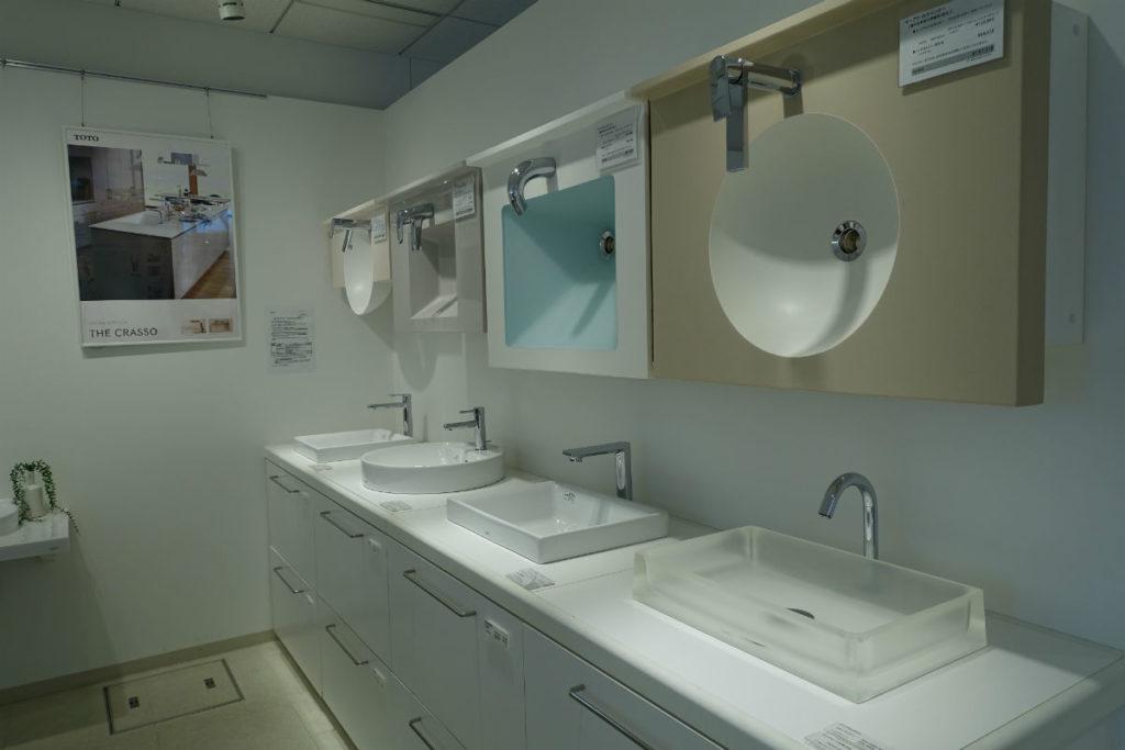 東京コラボレーションショールーム TOTO 洗面台展示