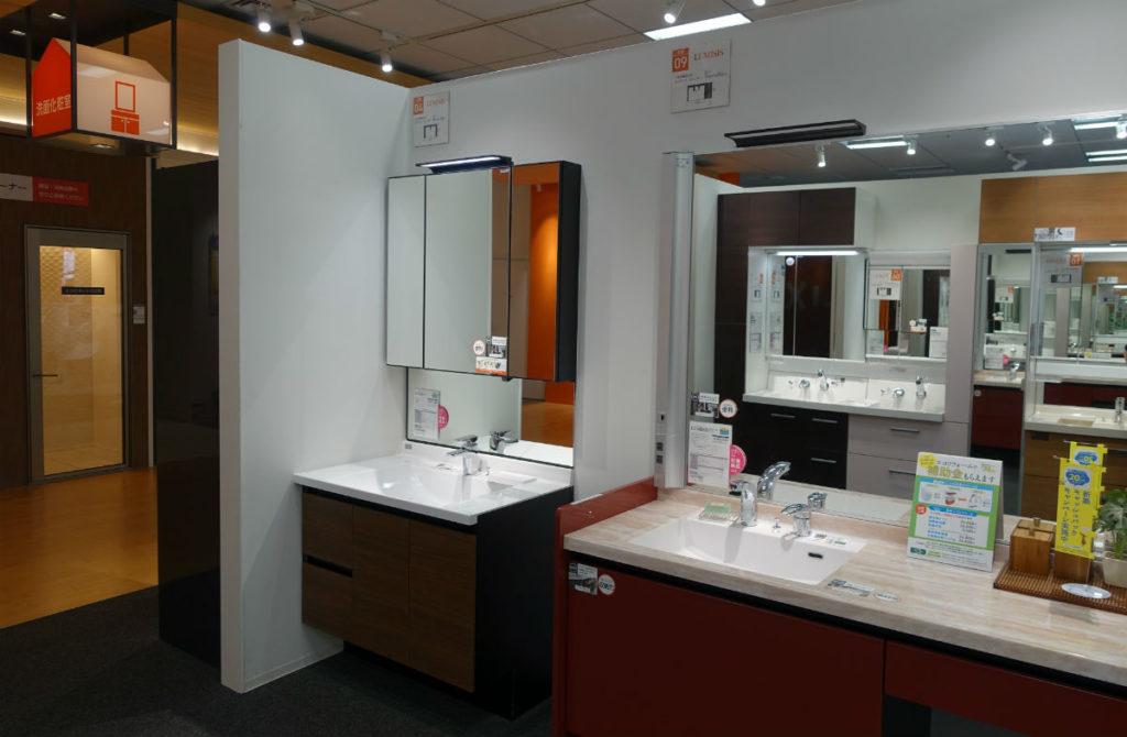 LIXIL東京ショールーム 洗面化粧台エリア