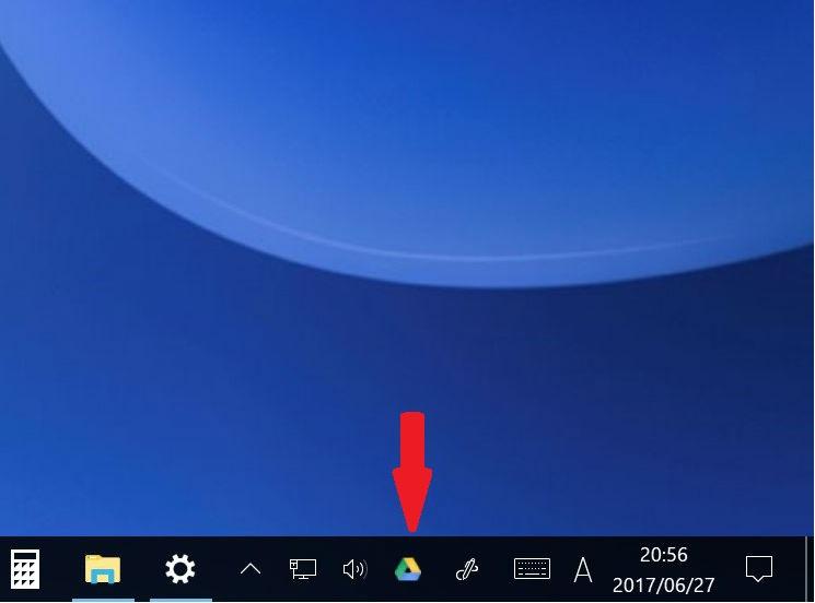 Google drive ログイン後 設定ステップ4-6 右下に三角ドライブマーク現れる