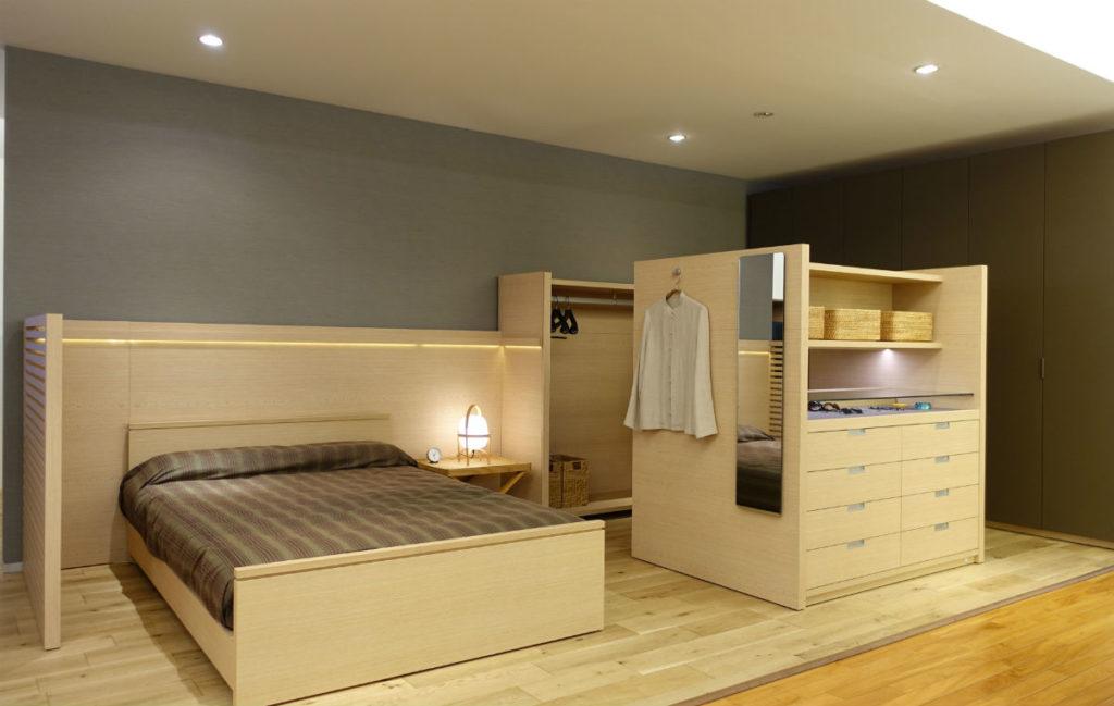 GALLARY収納 寝室コーディネート例