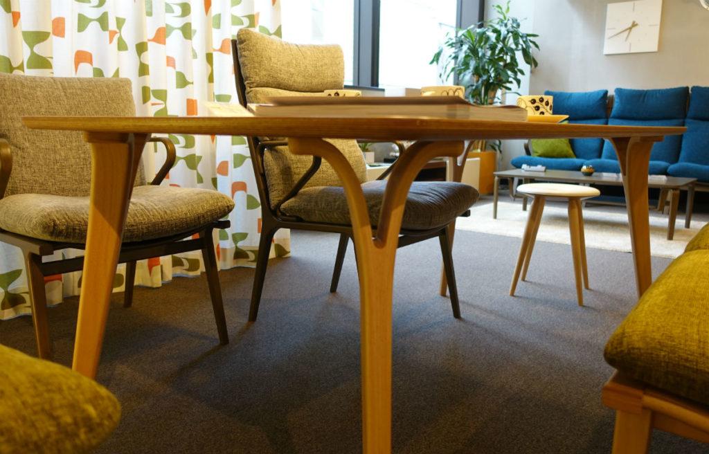 天童木工東京SR ダイニングテーブル06 天板と脚