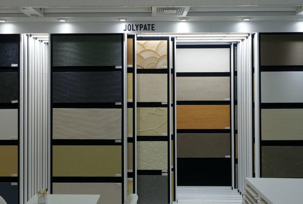アイカ工業東京ショールーム 外壁塗装等展示