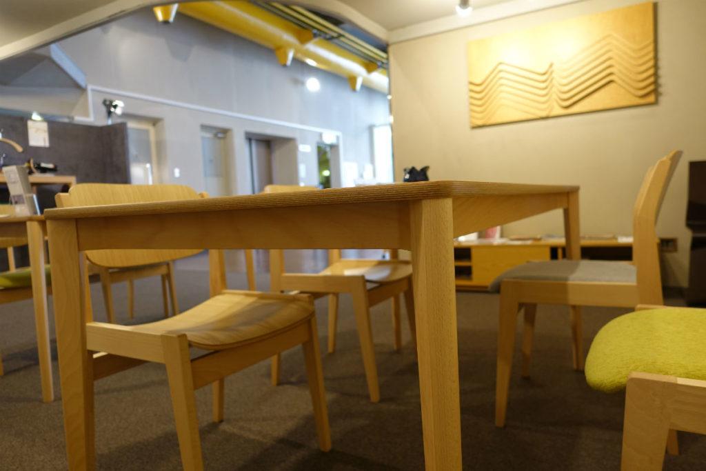 天童木工東京SR ダイニングテーブル04 天板裏補強