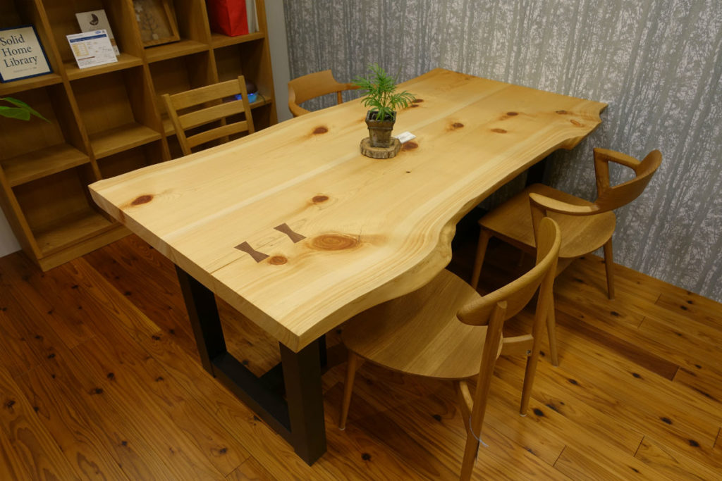 東京飛騨の家具館 一枚板テーブル