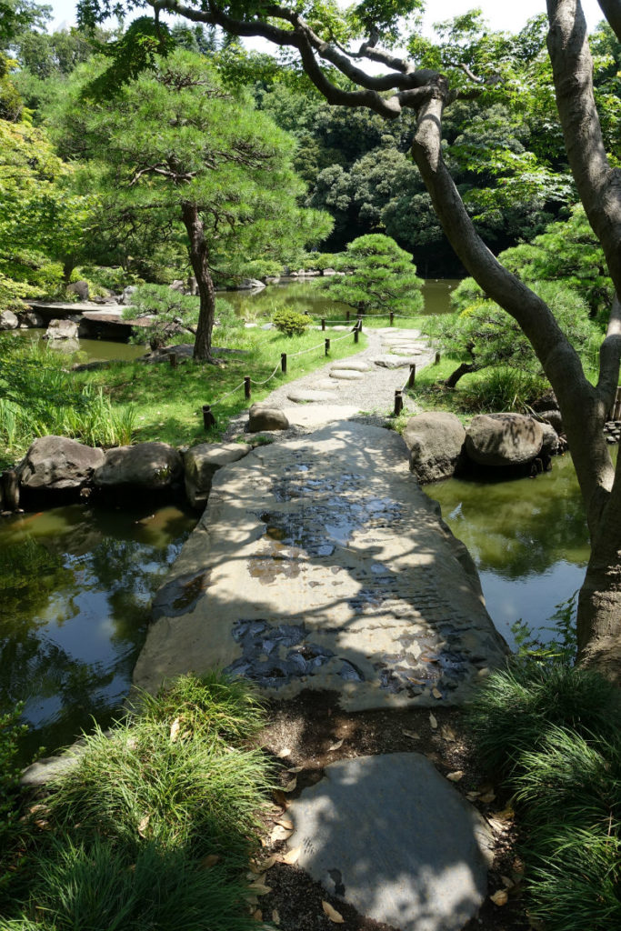 旧古河庭園 心字池に架かる橋