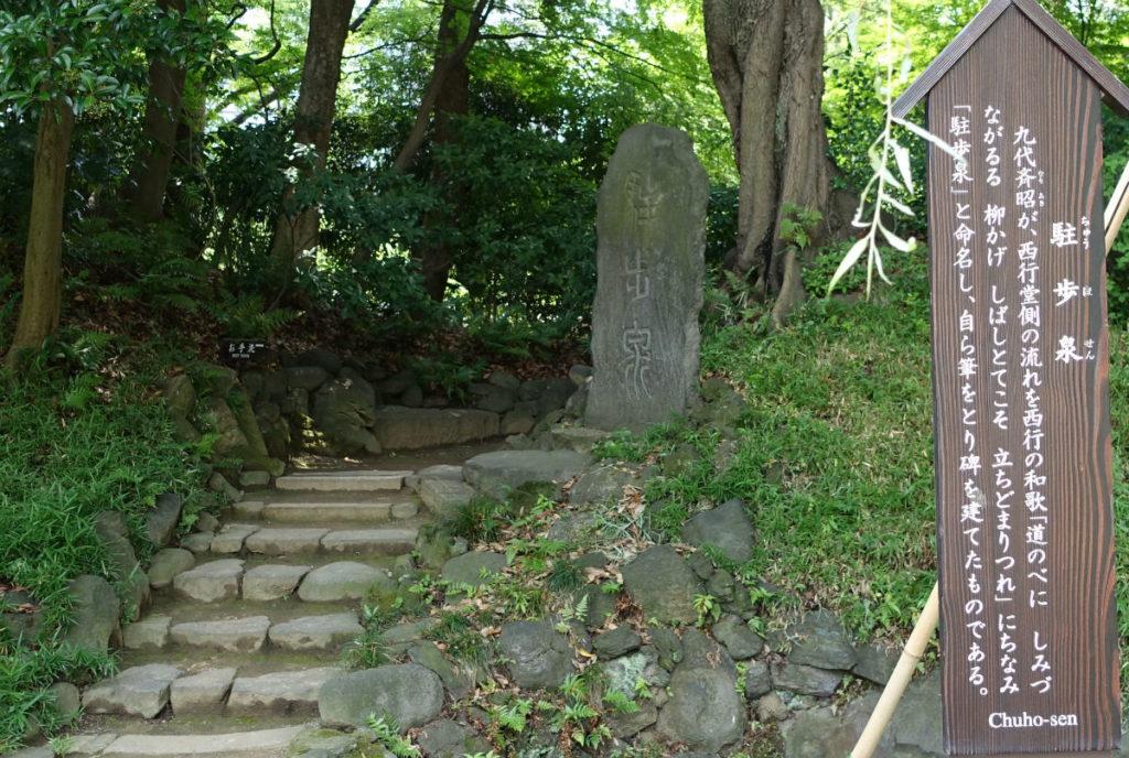 小石川後楽園 駐歩泉