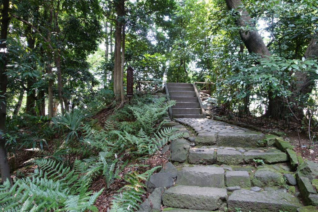 小石川後楽園 白雲台への登り階段