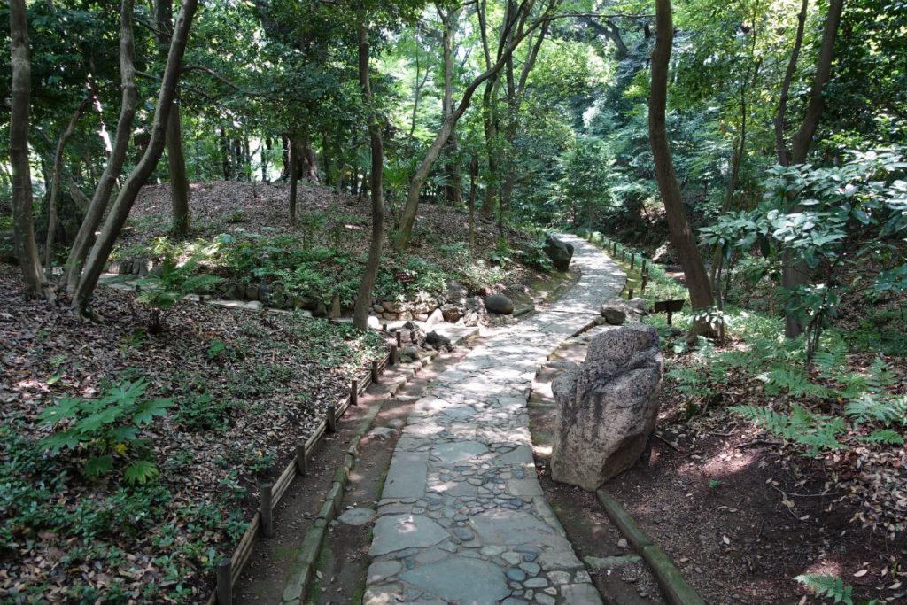 小石川後楽園 内庭へ続く延段