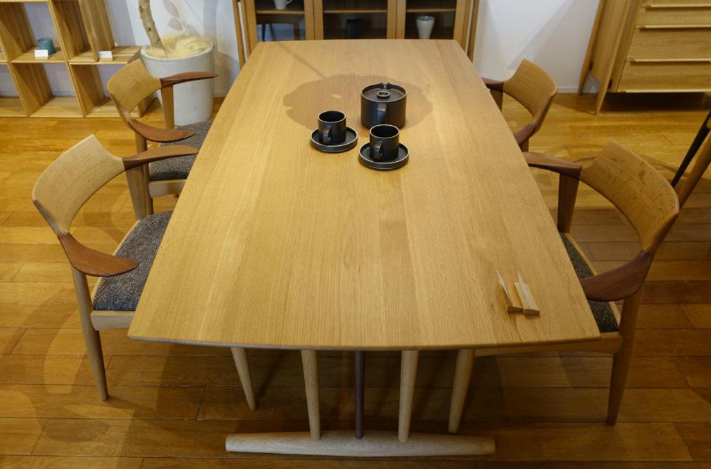 日進木工 white wood LDチェアとLD table