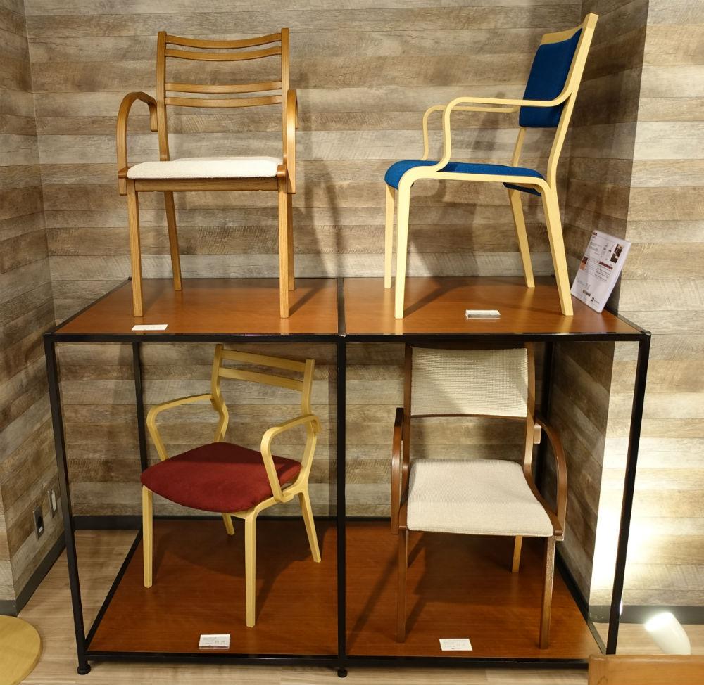 富士ファニチア plywood no chairs