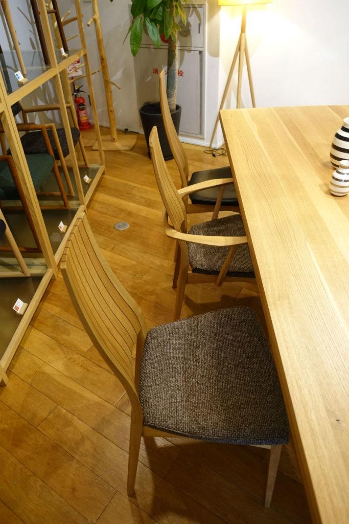 日進木工 white wood ミドルバックチェア そのアームレストあり ハイバックチェア