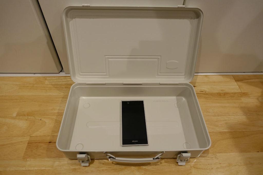 MUJIのスチール製ボックス