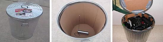 海外の金属バケツのファラデーケージ