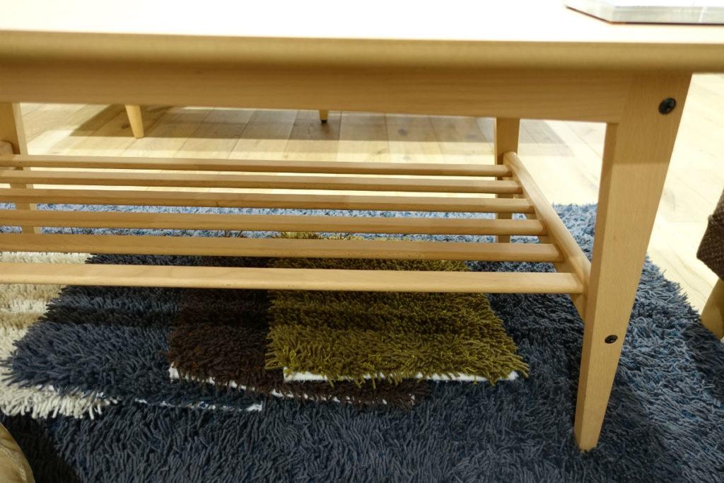 カリモク60新宿 リビングテーブルのすのこ状の棚