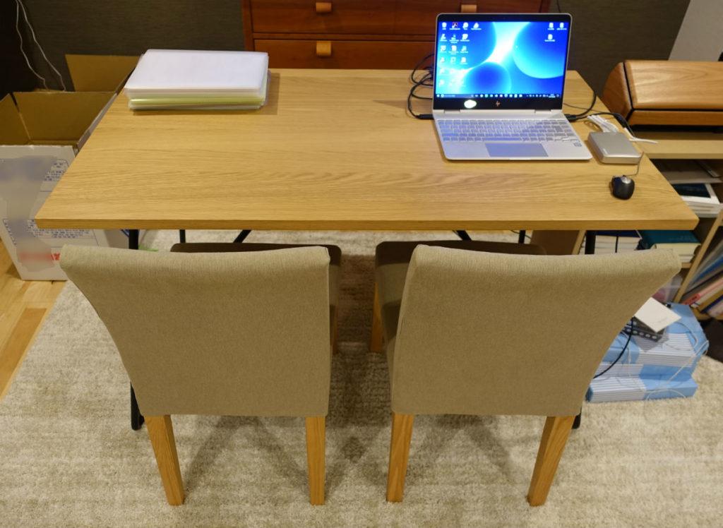 MUJIおりたたみテーブルとチェアの普段の様子