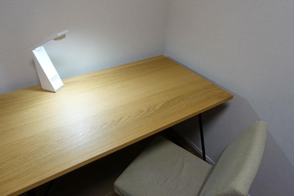 MUJI 折り畳み机 椅子 LEDライト