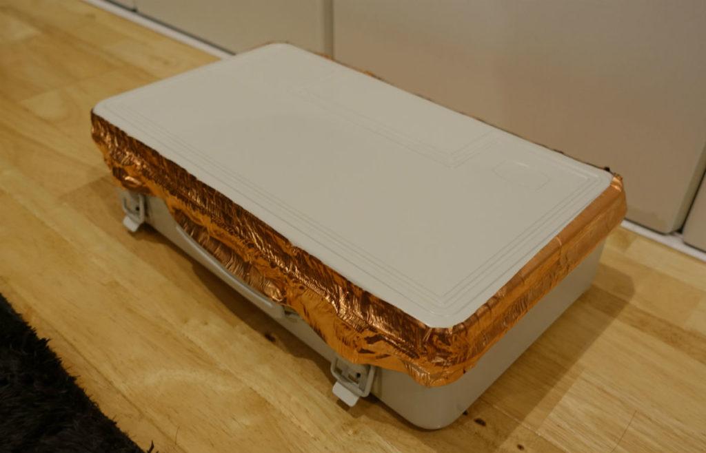 MUJIのスチール製ボックス 銅箔シーリング