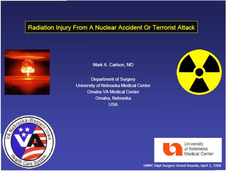 ネブラスカ大医学部の核兵器の影響のPDFの表紙