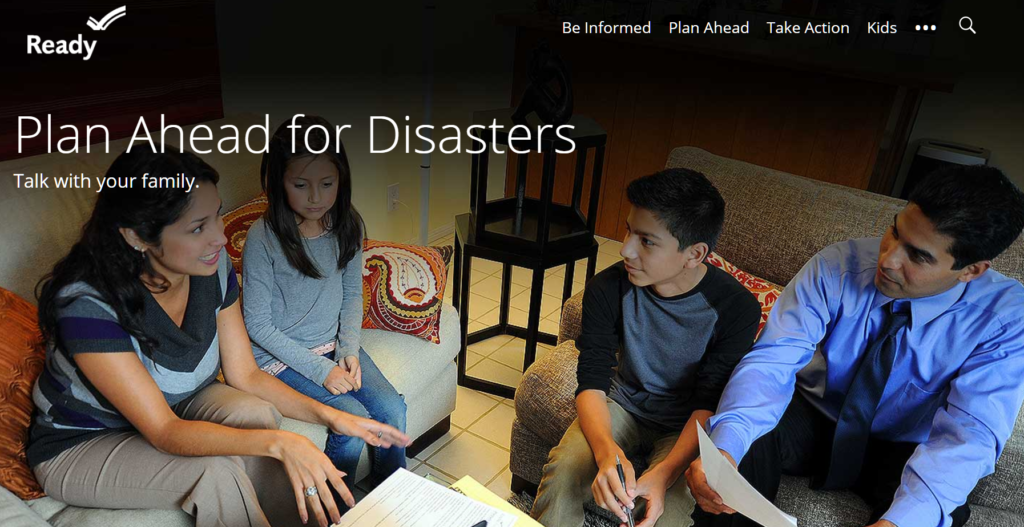 Plan Ahead for Disasters Home 画像