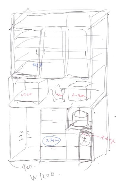 カップボード 初期アイディア自作