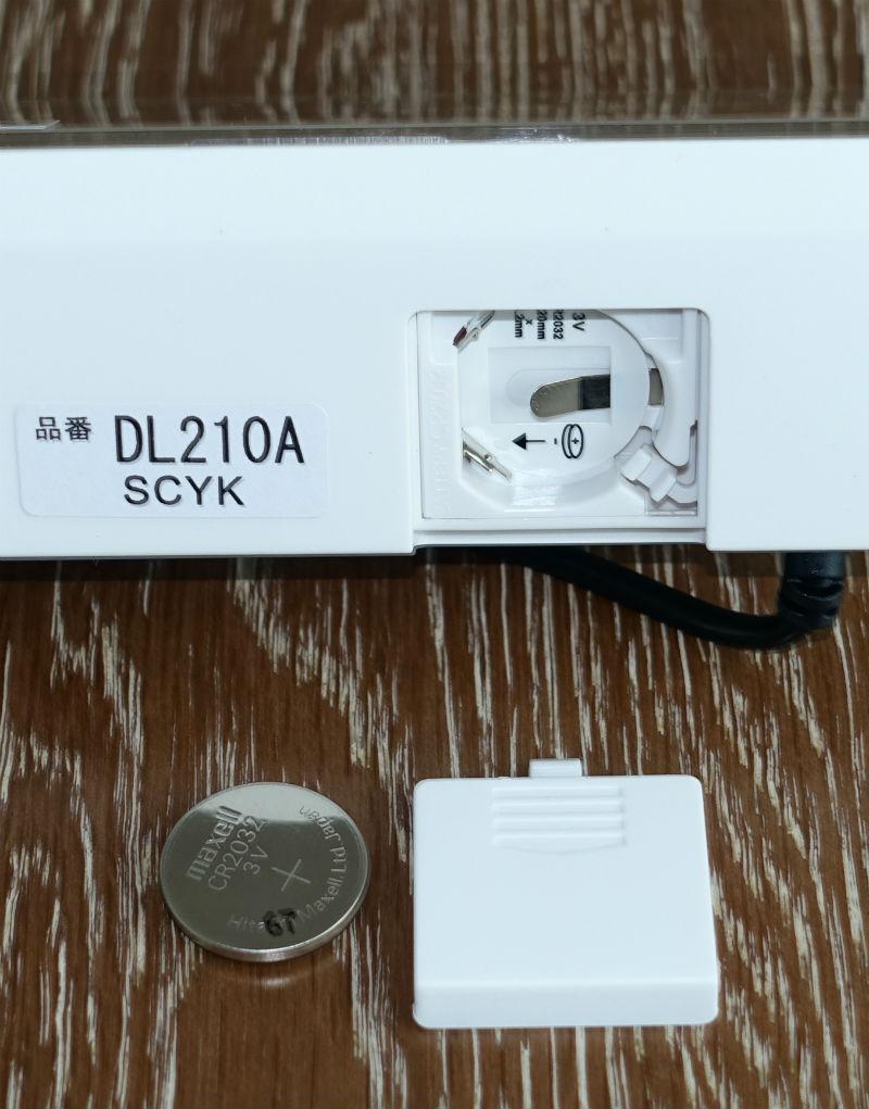 SEIKO シリーズC3 DL210A 本体下面のコイン電池