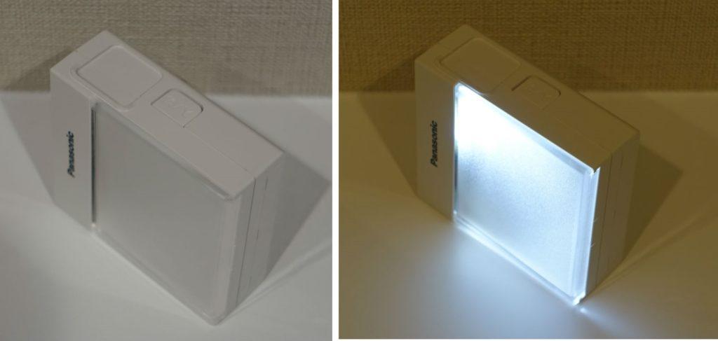 Panasonic ホームハンディー保安灯WTF4088W 白色LED点灯時消灯時