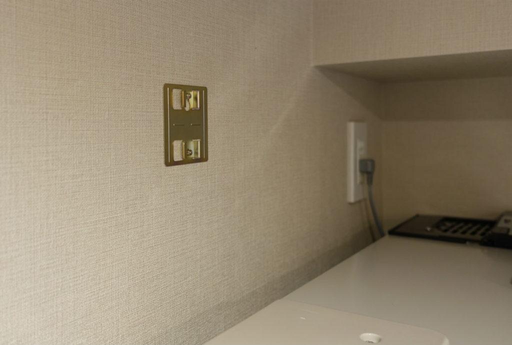 ガス漏れ警報器 取付金具を壁に設置