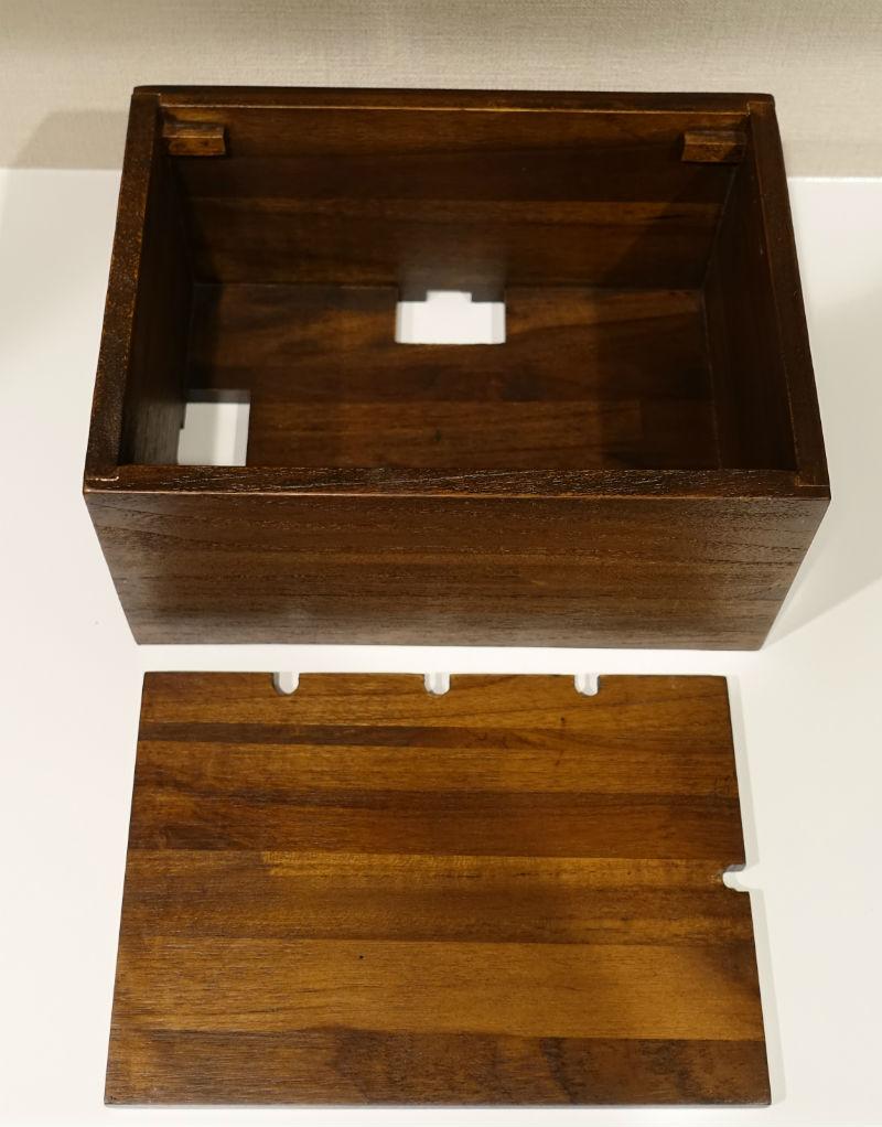 木製ケーブルボックス 本体と蓋