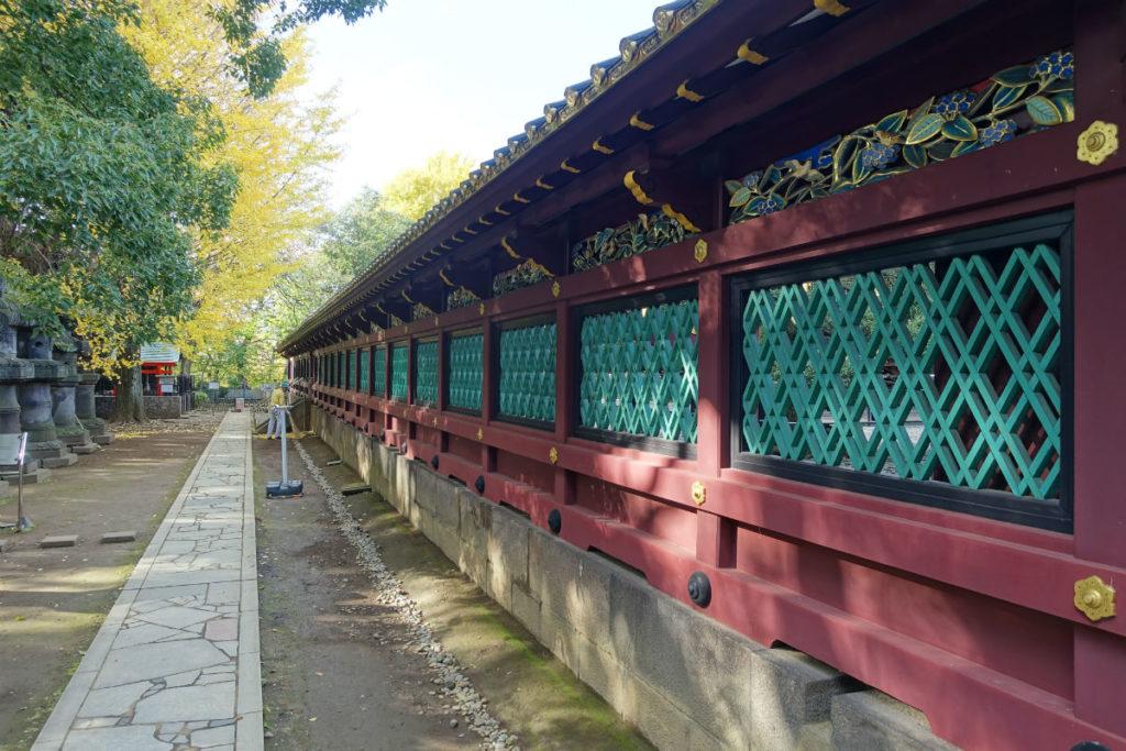 上野東照宮 社殿を取り囲む透塀