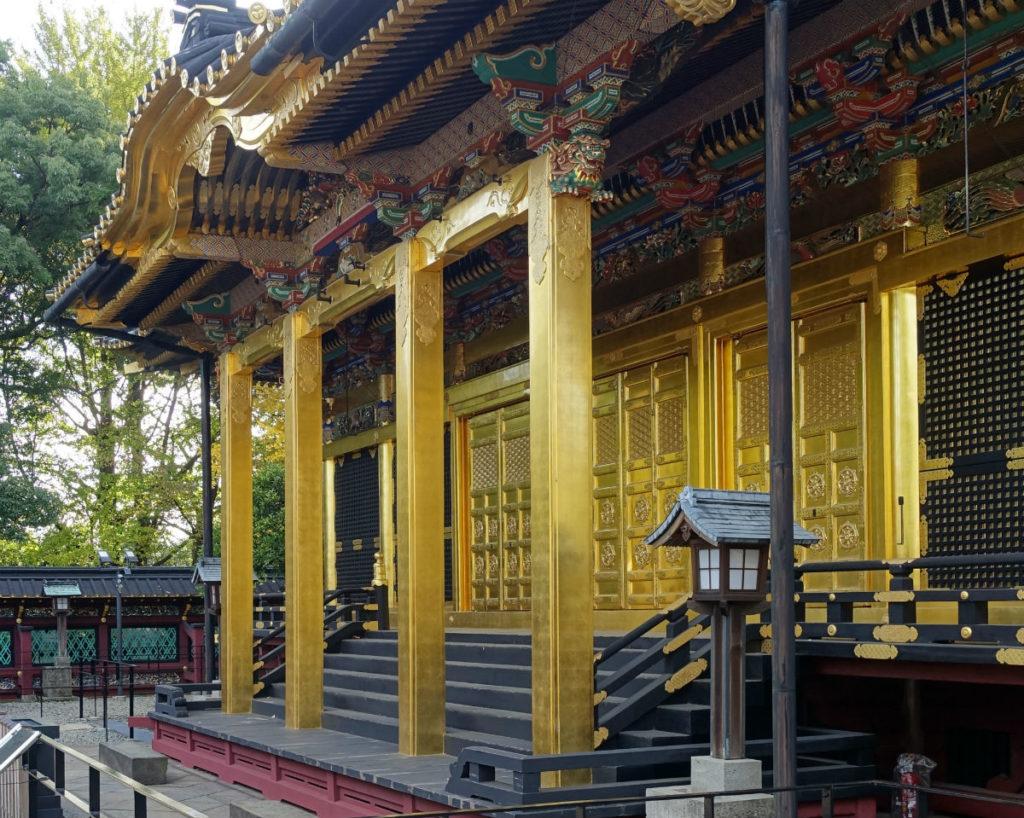 上野東照宮 社殿正面 彫刻など