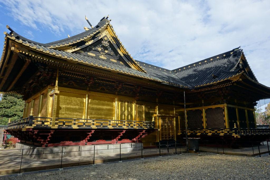 上野東照宮 社殿 左奥から