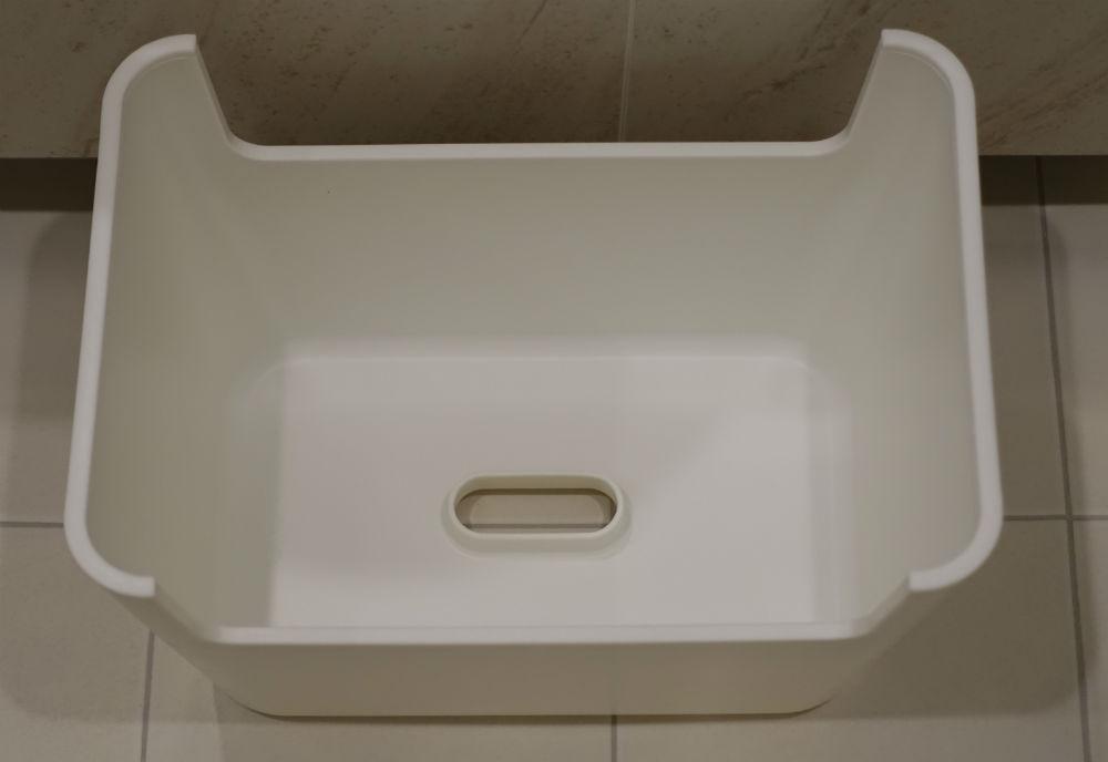 MUJI 風呂いす 裏面