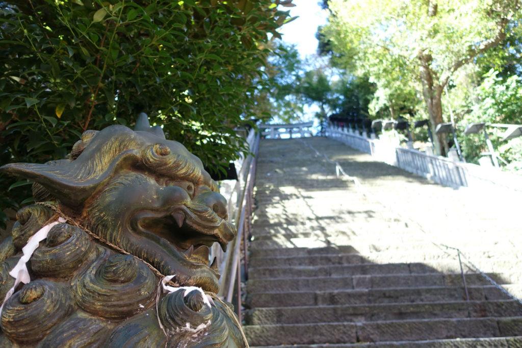 愛宕神社 出世の石段 下から見上げる