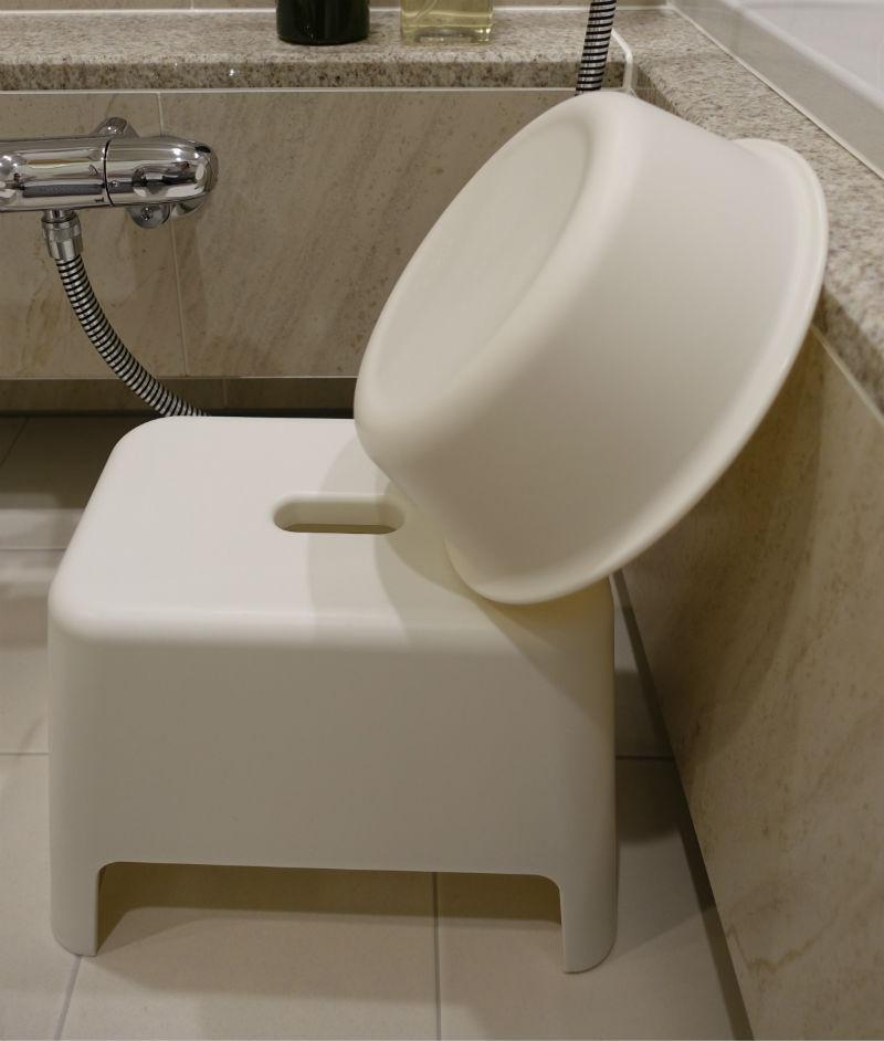 MUJI 湯桶と椅子